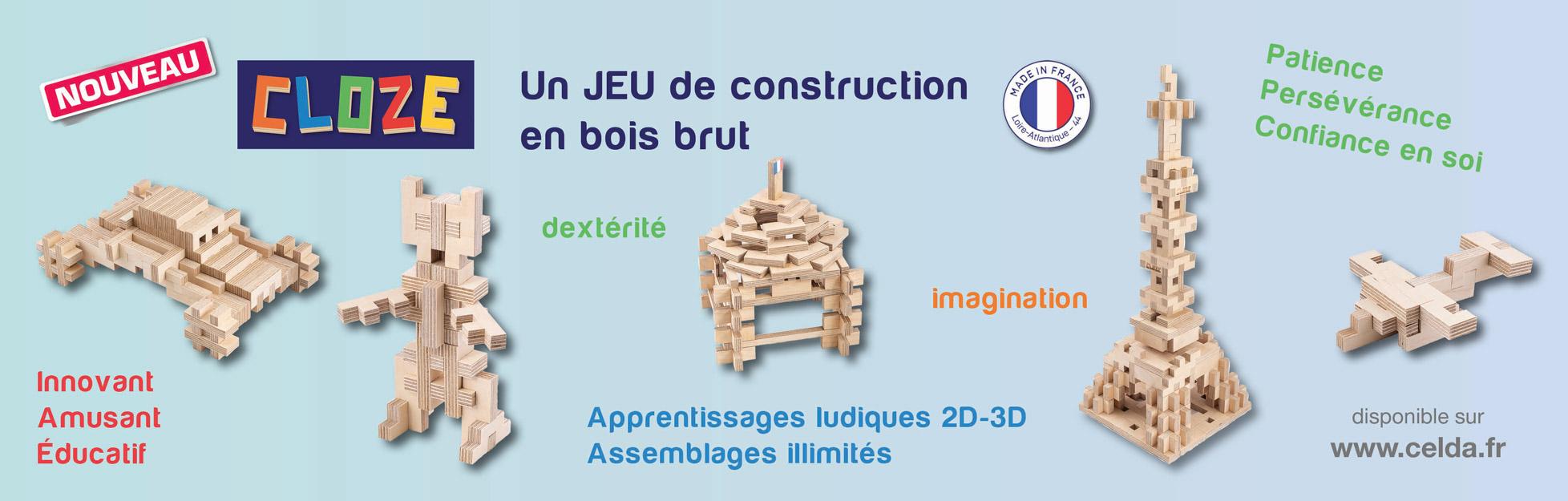 CLOZE - Un jeu de construction en bois brut