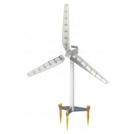 L'éolienne permet de charger une pile rechargeable...