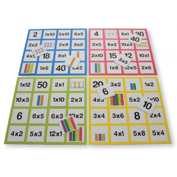 Loto des multiplications multiplication et division - Domino table de multiplication ...