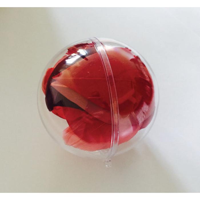 Boules transparentes d corer no l supports de - Boule de noel transparente a decorer ...