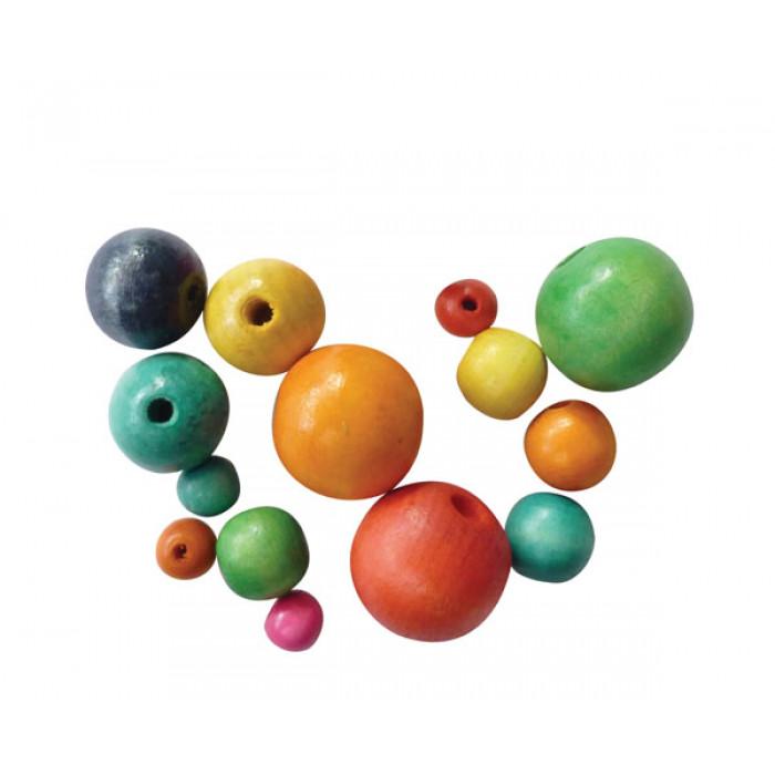 Perles en bois perles et accessoires mat riel de - Perle pour enfant ...