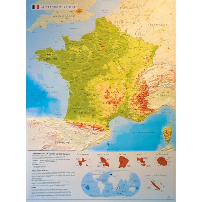Cartes De France En Relief