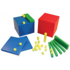 Cubes base 10 encastrables en couleurs