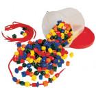 Grosses perles en plastique