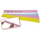 Bandes de papier effaçable