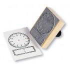 Timbre horloge à cadran et digitale