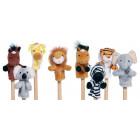 8 marionnettes à doigts animaux