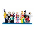 12 marionnettes à doigts personnages