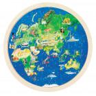 Puzzle double face : le globe terrestre