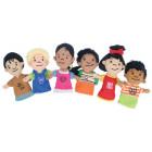 6 marionnettes à doigts enfants du monde