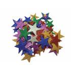 Gommettes mousse adhésives étoiles
