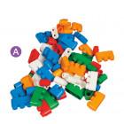 A - Assortiment de 180 briques