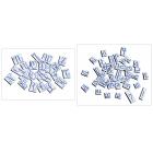 Majuscules et minuscules cursives - 344 pièces magnétiques